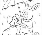 Coloriage et dessins gratuit Animaux et Pluie à imprimer