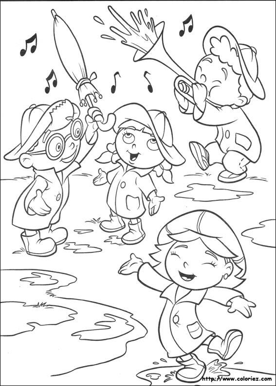 Coloriage et dessins gratuits Enfants et Pluie à imprimer