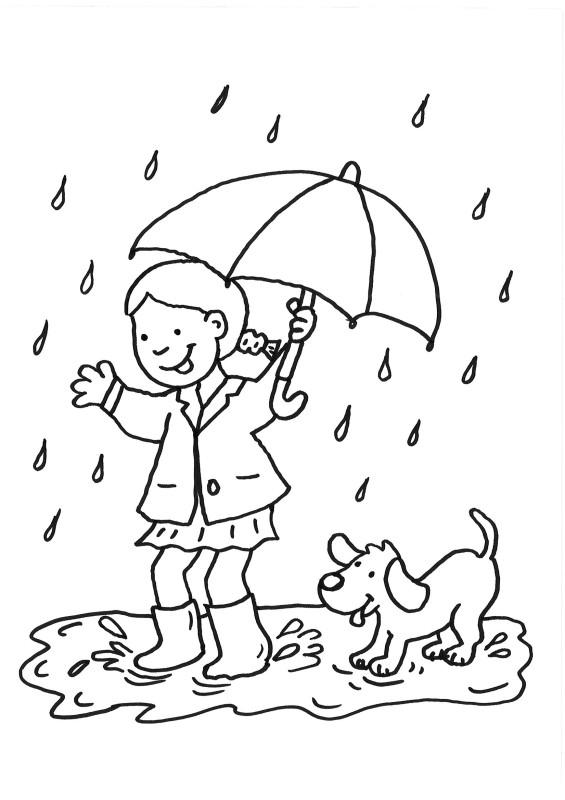 Coloriage et dessins gratuits Fille et son chien en s'amusant à imprimer