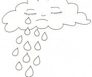 Coloriage Il pleut