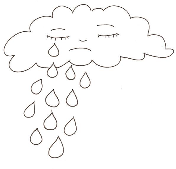 Coloriage et dessins gratuits Il pleut à imprimer