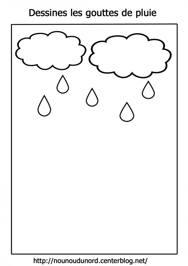 Coloriage et dessins gratuits Nuages et Pluie à imprimer