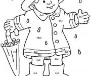 Coloriage et dessins gratuit Petite fille porte sa parapluie à imprimer