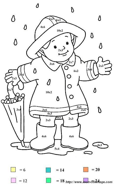 Coloriage et dessins gratuits Petite fille porte sa parapluie à imprimer