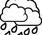 Coloriage dessin  Pluie 3