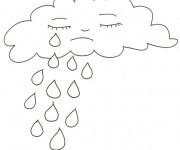 Coloriage dessin  Pluie 4
