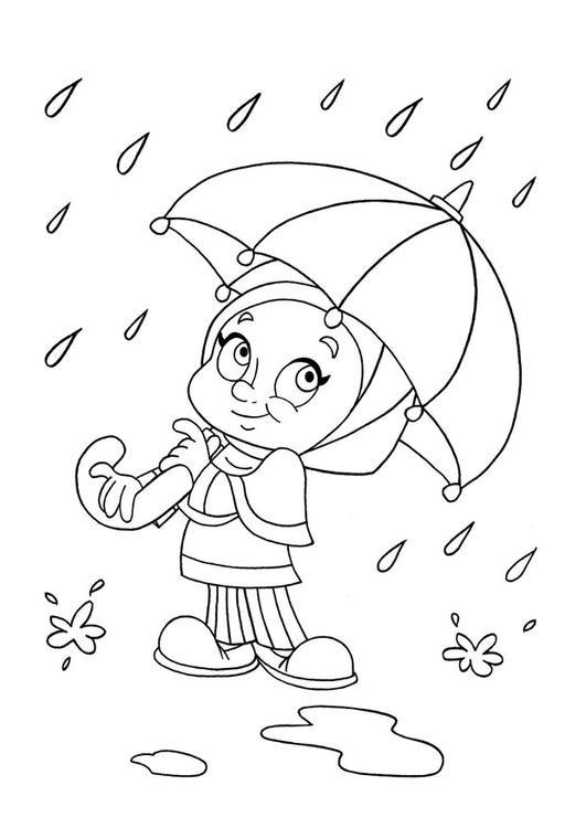 Coloriage et dessins gratuits Pluie 42 à imprimer