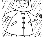Coloriage et dessins gratuit Pluie en hiver à imprimer