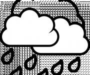 Coloriage et dessins gratuit Pluie en noir à imprimer