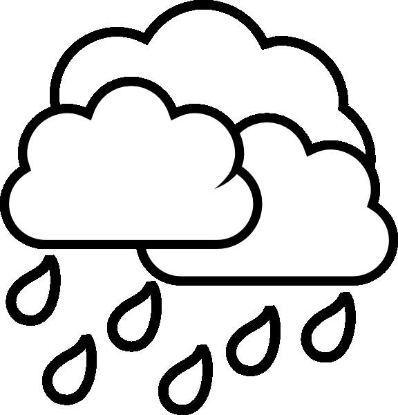 Coloriage et dessins gratuits Pluie en noir à imprimer