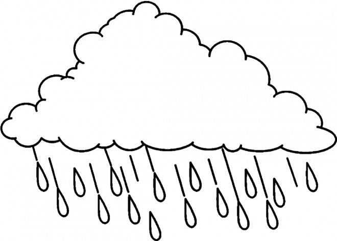 Coloriage et dessins gratuits Pluie facile à imprimer