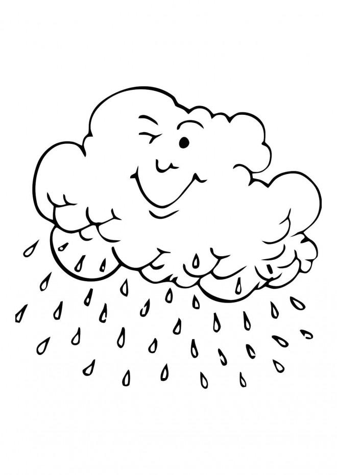 Coloriage et dessins gratuits Pluie qui sourit à imprimer