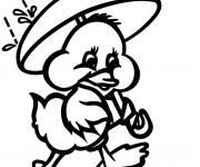 Coloriage et dessins gratuit Poussin et Pluie à imprimer