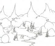 Coloriage ANimaux de Rivière dessin animé
