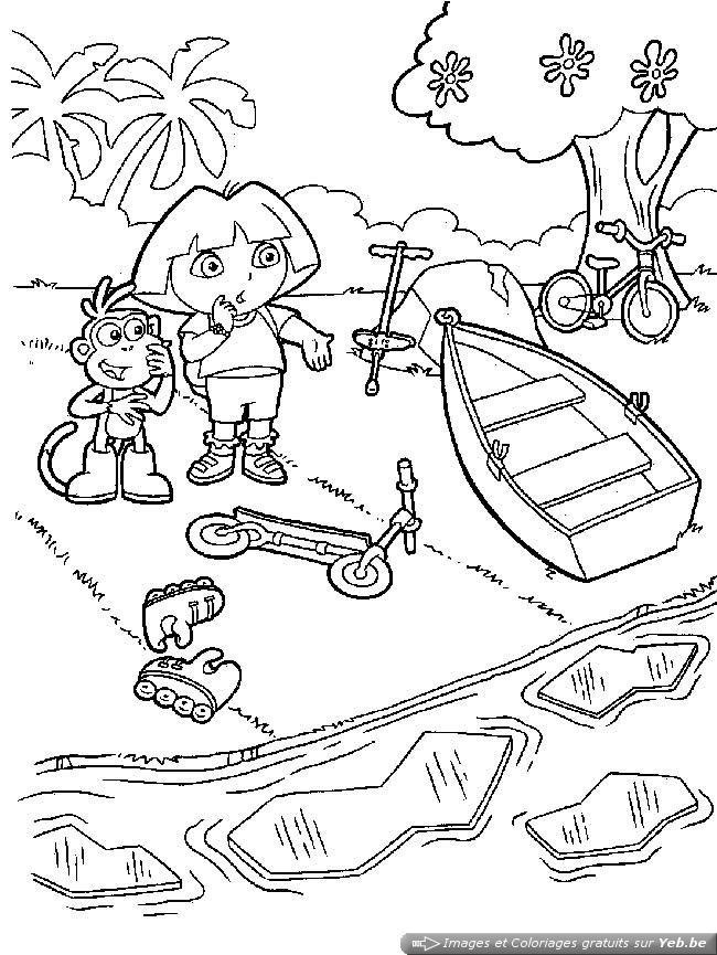 Coloriage et dessins gratuits Dora et La rivière à imprimer