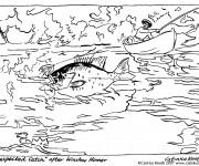 Coloriage Pêcherie dan La Rivière adulte
