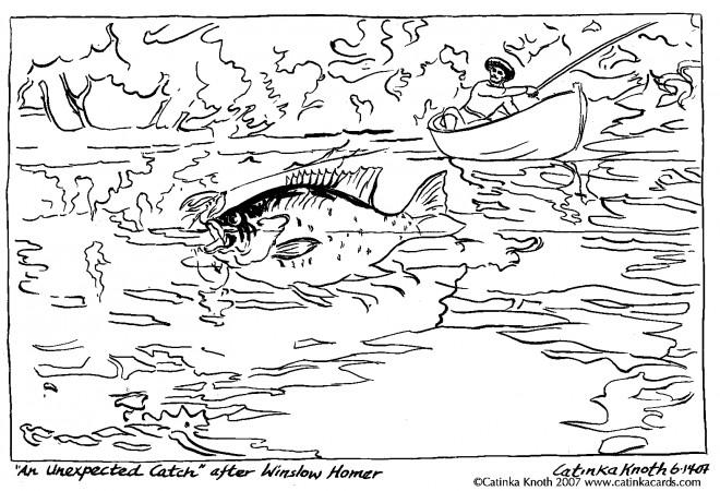 Coloriage et dessins gratuits Pêcherie dan La Rivière adulte à imprimer