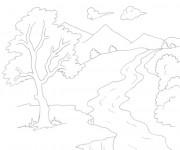 Coloriage dessin  Riviere 13
