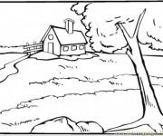 Coloriage et dessins gratuit Rivière de Compagne à imprimer