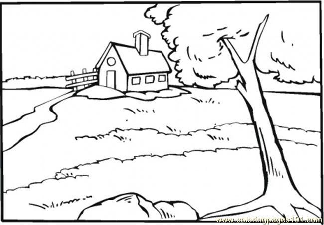 Coloriage et dessins gratuits Rivière de Compagne à imprimer