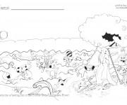 Coloriage Rivière dessin animé