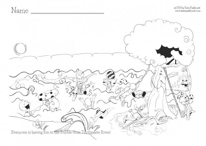 Coloriage et dessins gratuits Rivière dessin animé à imprimer