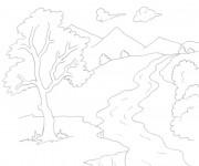 Coloriage et dessins gratuit Rivière en couleur à imprimer