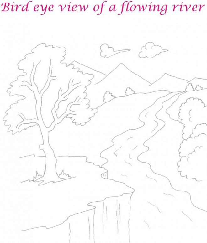 Coloriage et dessins gratuits Rivière en couleur à imprimer
