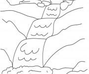 Coloriage et dessins gratuit Rivière et Cascade à imprimer