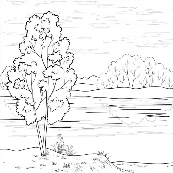 Coloriage et dessins gratuits Rivière et la Nature à imprimer