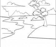 Coloriage et dessins gratuit Rivière maternelle à imprimer