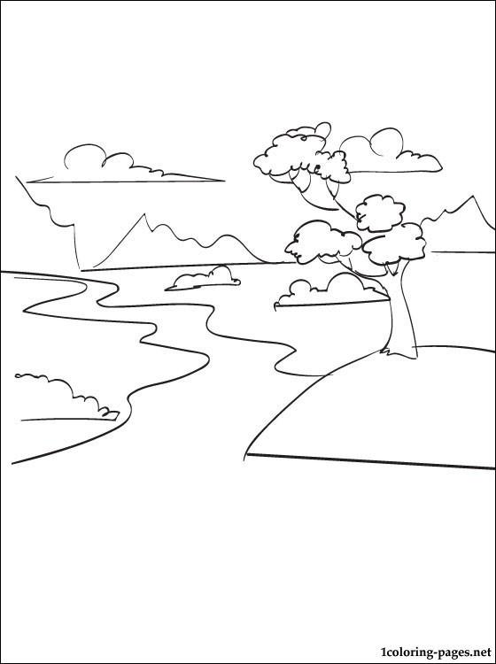 Coloriage et dessins gratuits Rivière maternelle à imprimer
