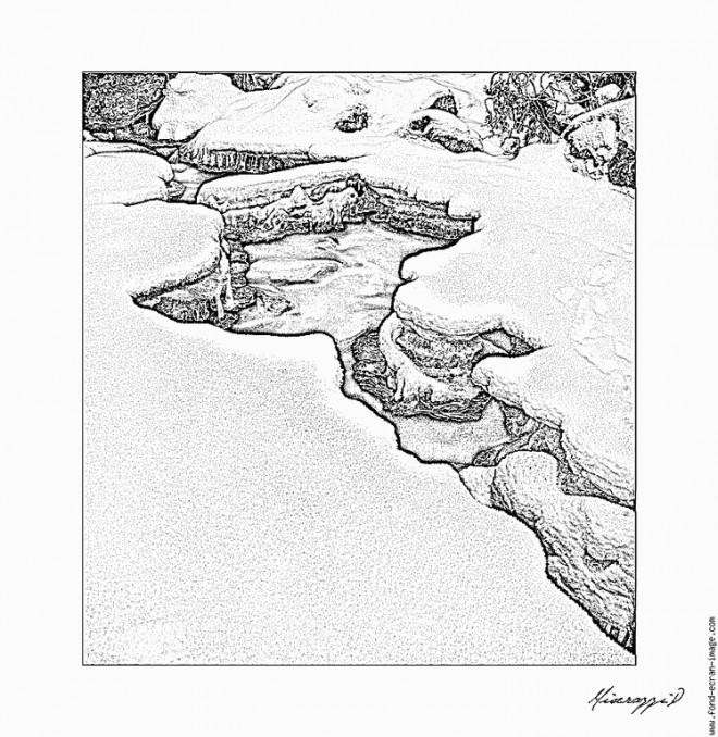 Coloriage et dessins gratuits Rivière réaliste silhouette à imprimer