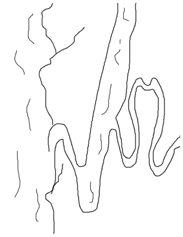 Coloriage et dessins gratuits Rivière simple à imprimer