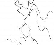 Coloriage et dessins gratuit Rivière stylisé à imprimer