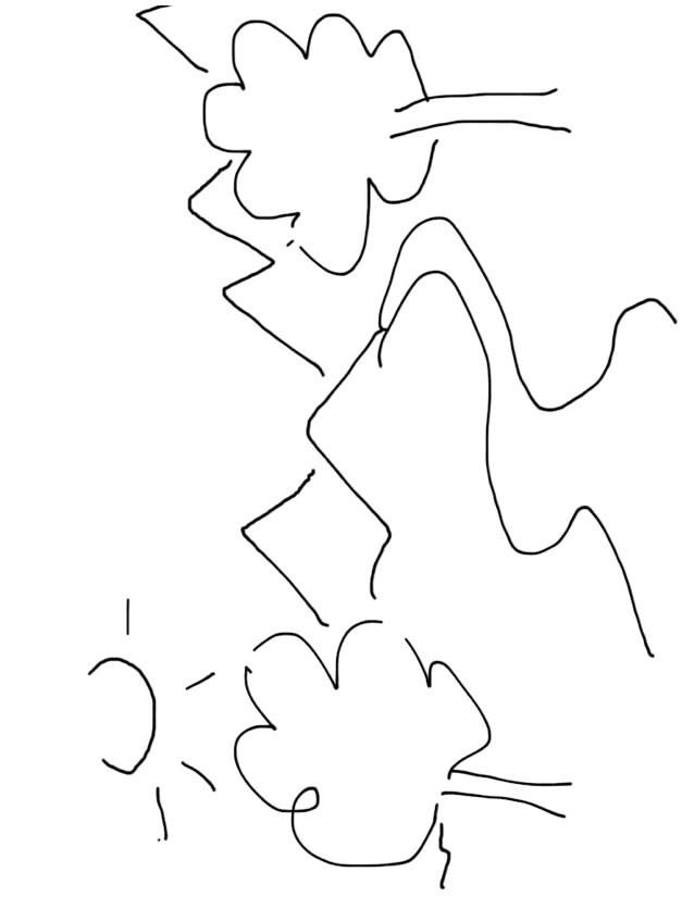 Coloriage et dessins gratuits Rivière stylisé à imprimer