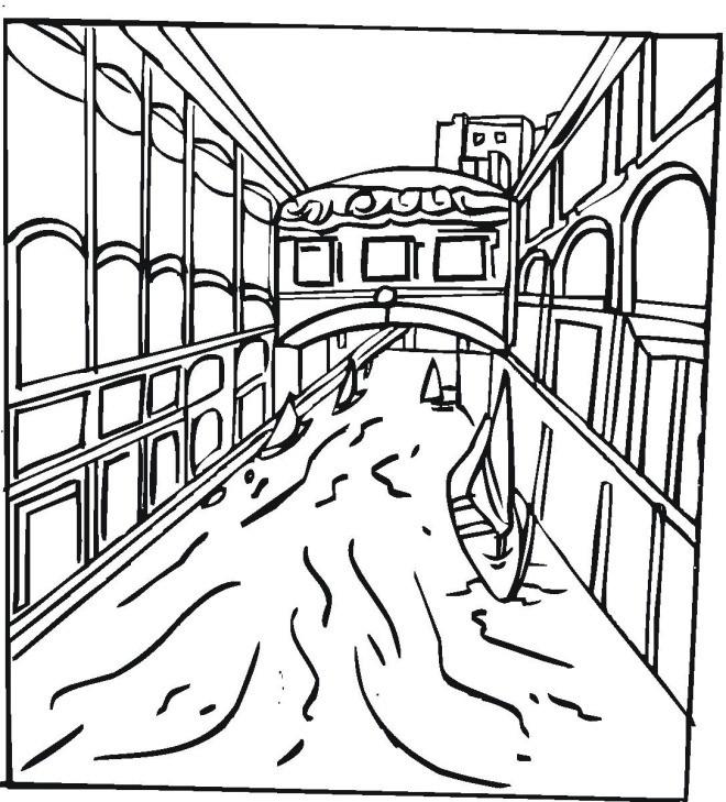 Coloriage et dessins gratuits Rivière Venise à imprimer