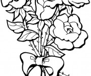Coloriage Des Roses arrangées