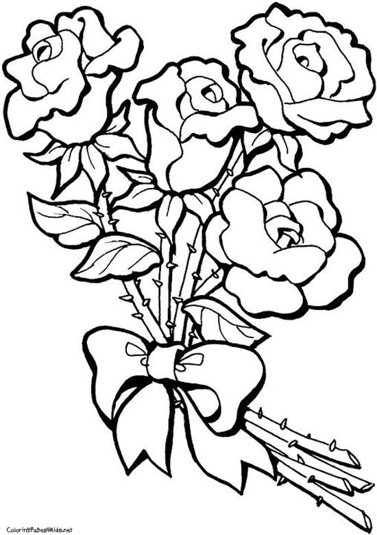 Coloriage et dessins gratuits Des Roses arrangées à imprimer