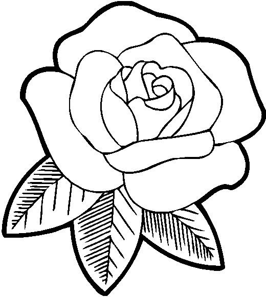 Coloriage et dessins gratuits Rose pour maman à imprimer