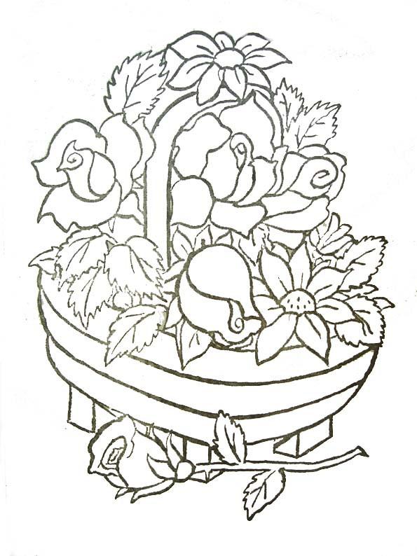 Coloriage et dessins gratuits Roses et Plantes à imprimer