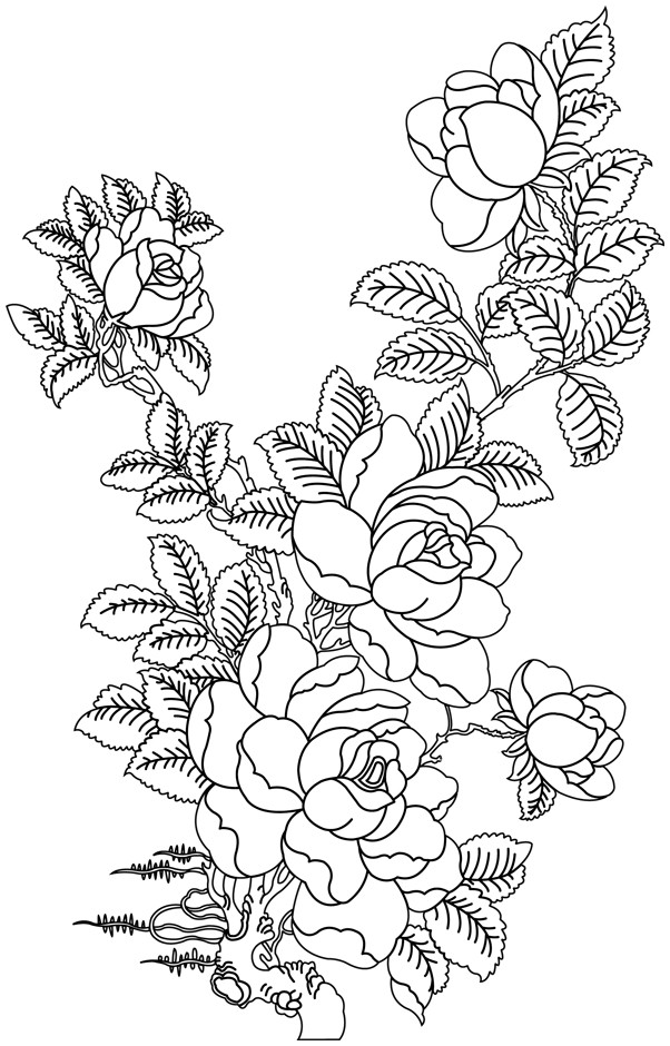 Coloriage roses mandala dessin gratuit imprimer - Rose coloriage ...
