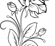 Coloriage Roses maternelle