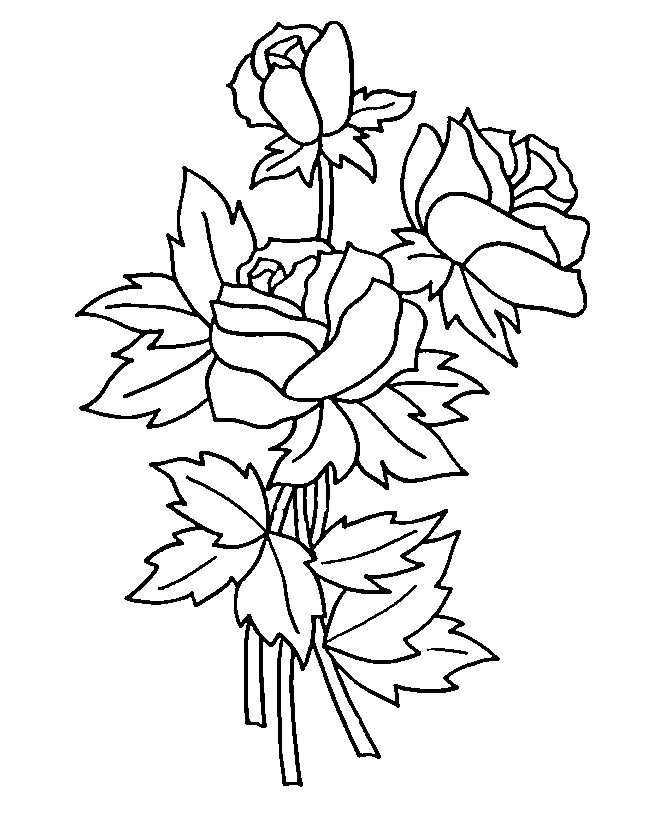 Coloriage et dessins gratuits Roses pour décoration à imprimer