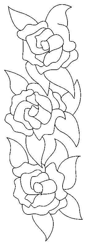 Coloriage et dessins gratuits Roses tout à fait simple à imprimer