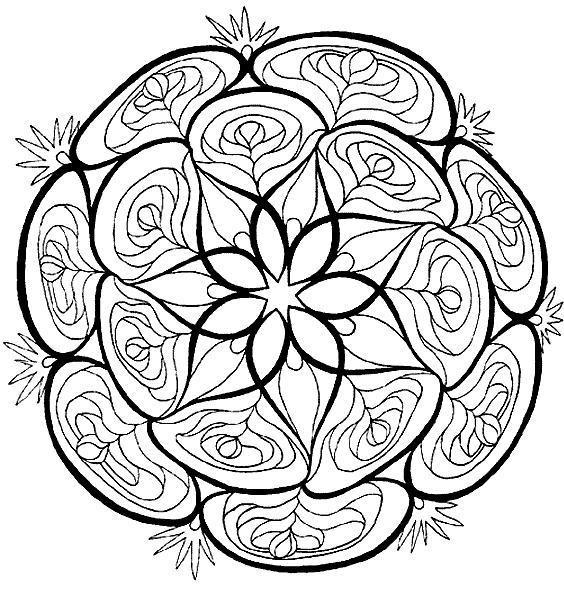 Coloriage et dessins gratuits Roses vecteur mandala à imprimer