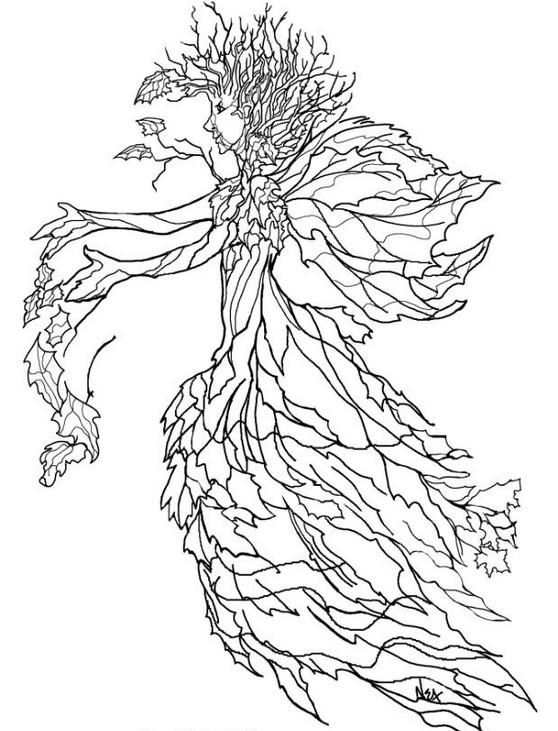 Coloriage et dessins gratuits Arbre Automne Artistique à imprimer