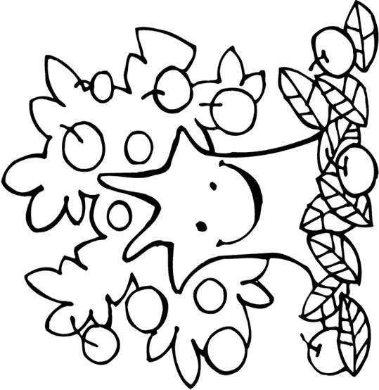 Coloriage et dessins gratuits Arbre joyeuse en Automne à imprimer