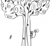 Coloriage et dessins gratuit Arbres Automne couleur à imprimer