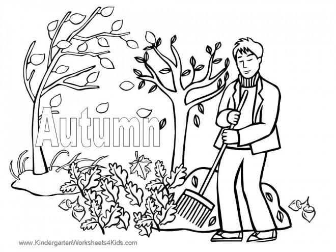 Coloriage Jardin Arbres.Coloriage Arbres De Jardin En Automne Dessin Gratuit A Imprimer